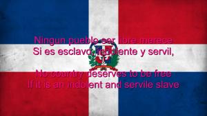 ドミニカ共和国の国歌「勇敢なるキスケージャよ」